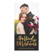 Married Christmas 4x8 Photo Card