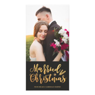 Married Christmas 4x8 Photo Card