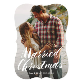 Married Christmas 5x7 Paper Invitation Card