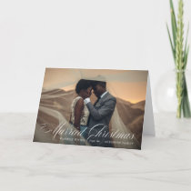 Married Christmas | Blue Holiday Folded Card