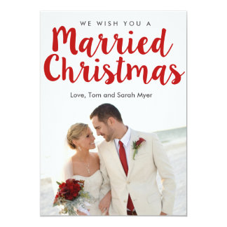 Married Christmas | Christmas 5x7 Paper Invitation Card