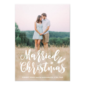 Married Christmas Full Photo Holiday Card