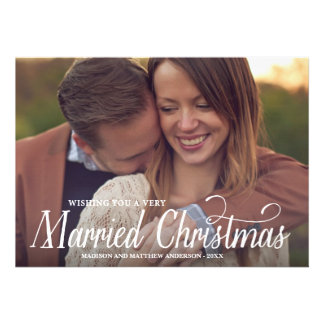 MARRIED CHRISTMAS HOLIDAY PHOTO CARD