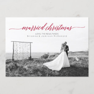 just married christmas gifts on zazzle
