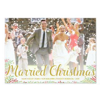 Married Christmas | Newlyweds Holiday Photo Card