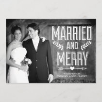 MARRIED CHRISTMAS PHOTO CARDS