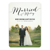 Married Christmas Photo Flat Cards
