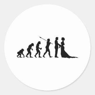Married Classic Round Sticker