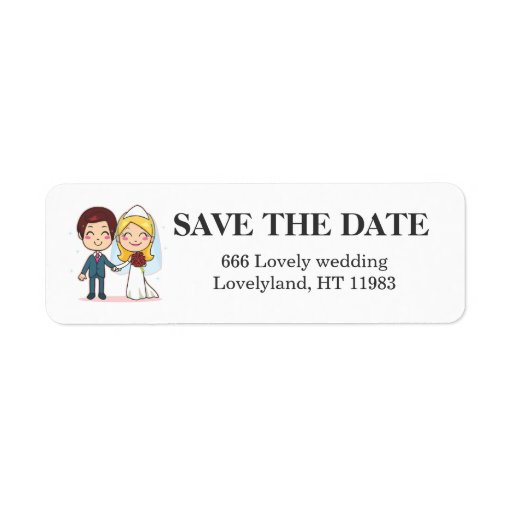 Married Couple Holding Hands Custom Return Address Labels