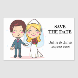 Married Couple Holding Hands Rectangular Sticker