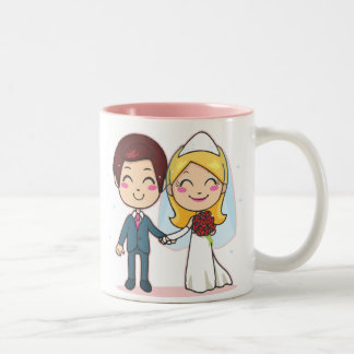 Married Couple Holding Hands Two-Tone Coffee Mug
