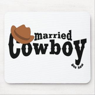 married cowboy mousepad