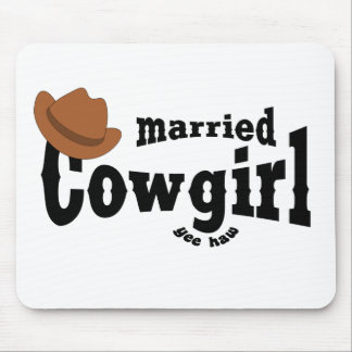 married cowgirl mousepads