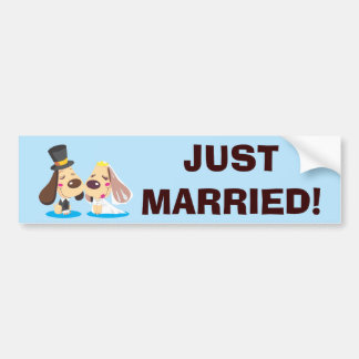 Married Dog Couple Bumper Sticker