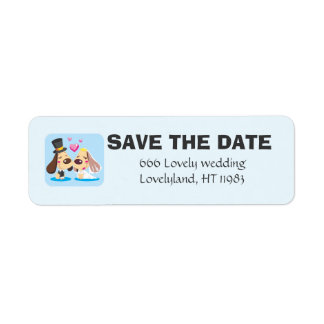 Married Dog Couple Label