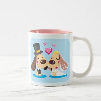 Married Dog Couple Two-Tone Coffee Mug