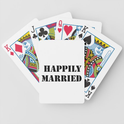 married funny card deck