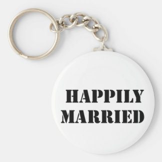 married funny keychain
