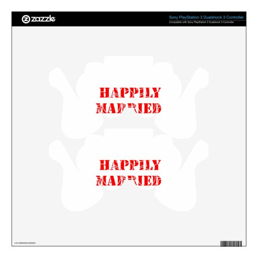 married funny PS3 controller decals