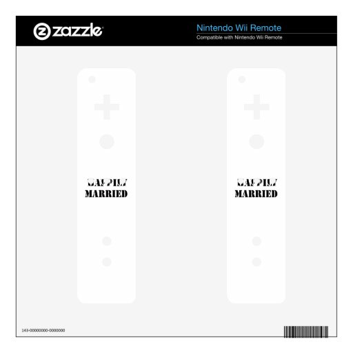 married funny wii remote skin
