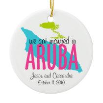 Married in Aruba Ornament