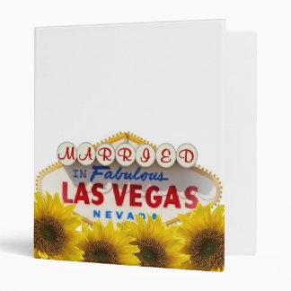 Married in Fabulous Las Vegas Album Yellow Daisies 3 Ring Binder