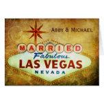 Married in Fabulous LAS VEGAS Greeting Cards