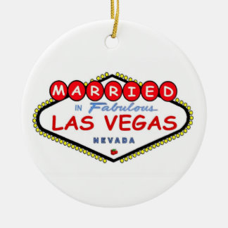 MARRIED In Fabulous Las Vegas Ornament