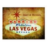 Married in Fabulous LAS VEGAS Post Card