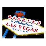 MARRIED In Fabulous Las Vegas Postcard