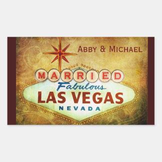 Married in Fabulous LAS VEGAS Rectangular Sticker