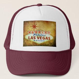 Married in Fabulous LAS VEGAS Trucker Hat