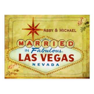Married in Fabulous Las Vegas - Vintage Postcard