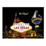 Married In Fabulous Las Vegas We Eloped! Postcard