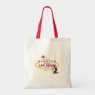 MARRIED In Fabulous Las Vegas with Bride & Groom B Tote Bag