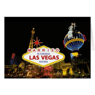 MARRIED IN FABULOUS LAS VEGAS with Bride & Groom C Card