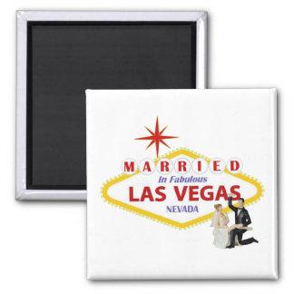 MARRIED In Fabulous Las Vegas with Bride & Groom M Magnet