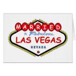 MARRIED In Las Vegas Cherry logo card