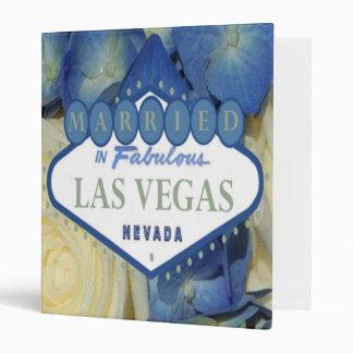 MARRIED in Las Vegas Floral Album 3 Ring Binder