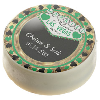 Married in Las Vegas | Green Poker Chip Chocolate Covered Oreo
