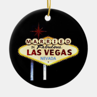 MARRIED In Las Vegas Keepsake Ornament