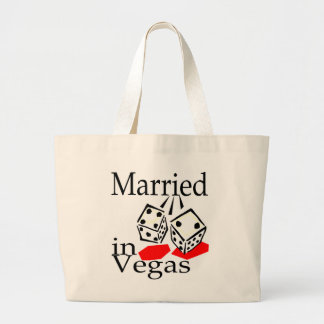 Married in Las Vegas Large Tote Bag