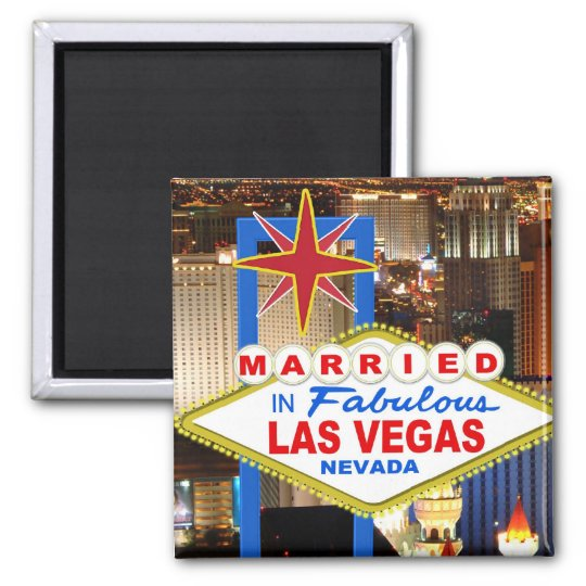 Married In Las Vegas Magnet