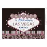 MARRIED In Las Vegas Paisley Card