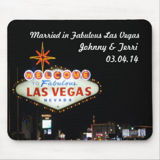 Married in Las Vegas Personalized Mousepad! Mouse Pad