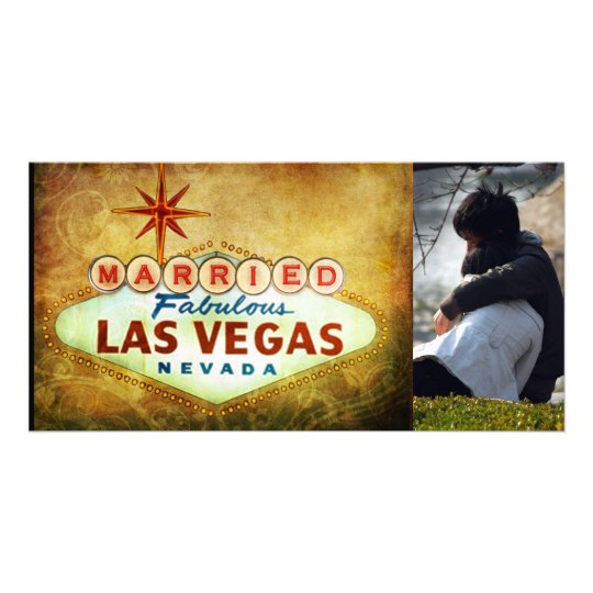 Married in Las Vegas Photocard Card