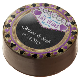 Married in Las Vegas | Purple Poker Chip Chocolate Covered Oreo