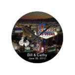 MARRIED In Las Vegas Wall Clock