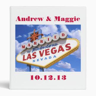 Married In Las Vegas Wedding Album 3 Ring Binders