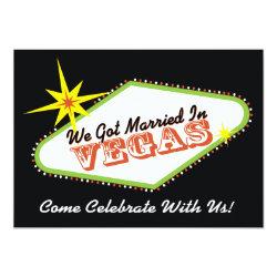 Married in Las Vegas Wedding Party Invitation